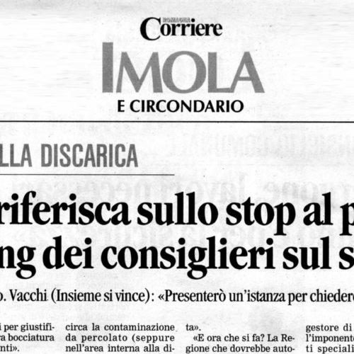 DISCARICA, NICOLAS VACCHI (ISV): STOP ALL'AMPLIAMENTO, CHIAREZZA E PROPOSTE NUOVE