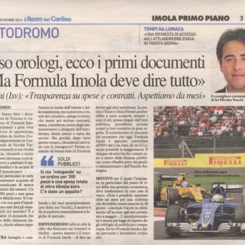 NICOLAS VACCHI (ISV): SULLE CARTE DELL'AUTODROMO SERVONO ALTRE RISPOSTE