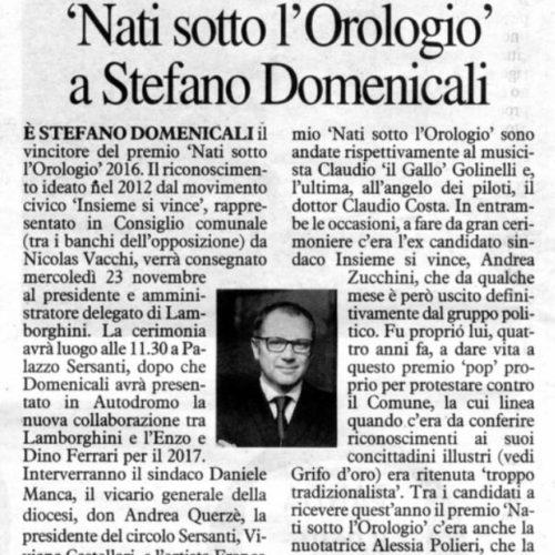 """CONVOCAZIONE CONFERENZA STAMPA PREMIAZIONE """"NATI SOTTO L'OROLOGIO"""""""