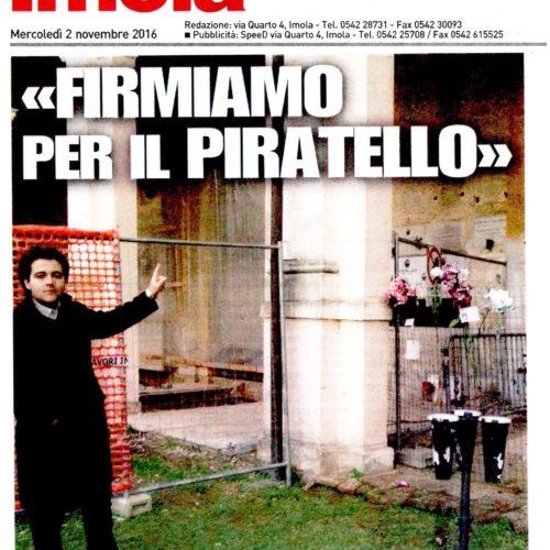 NICOLAS VACCHI (ISV): PIRATELLO, VERGOGNA MONUMENTALE, RACCOGLIEREMO LE FIRME