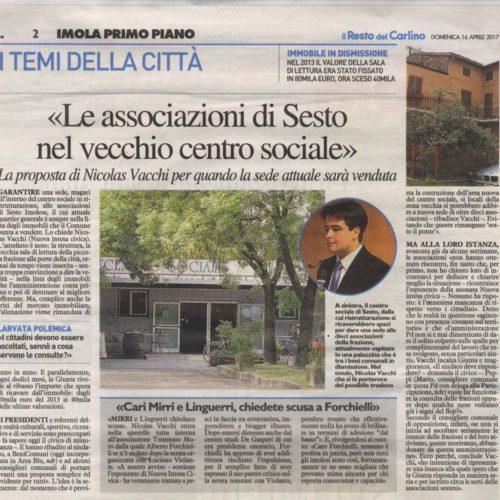 NICOLAS VACCHI (Nuova Intesa Civica): LE FRAZIONI NON VENGANO ABBANDONATE