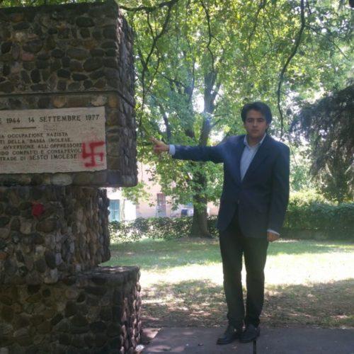 """NICOLAS VACCHI (Nuova Intesa Civica): SVASTICA SUI MONUMENTI AI CADUTI """"FATTO GRAVISSIMO"""".  IL CONSIGLIERE: """"NON ABBANDONIAMO LE FRAZIONI DI IMOLA"""""""