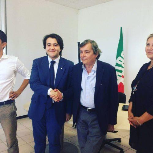 NICOLAS VACCHI PORTA FORZA ITALIA IN CONSIGLIO COMUNALE A IMOLA