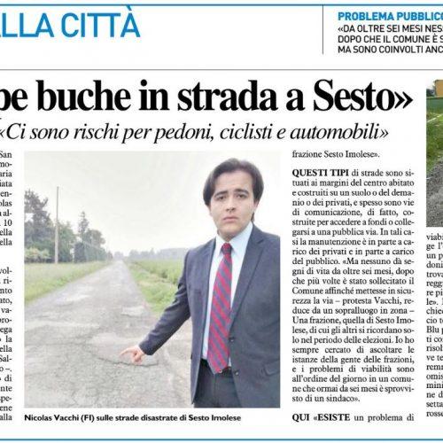 """Troppe buche in strada a Sesto. Vacchi (FI): """"ci sono rischi per pedoni, ciclisti e automobili"""""""