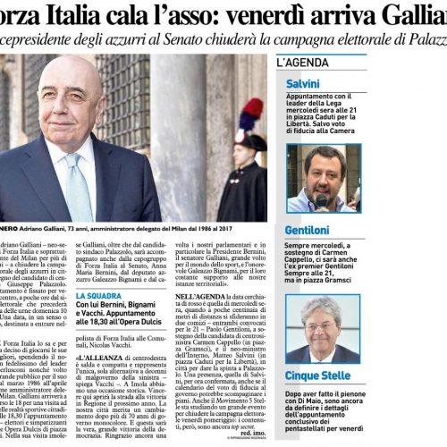 FORZA ITALIA IMOLA CHIUDE LA CAMPAGNA ELETTORALE CON ANNAMARIA BERNINI, ADRIANO GALLIANI E GALEAZZO BIGNAMI