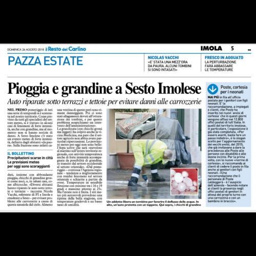 """NICOLAS VACCHI (FI): PAURA PER LA GRANDINE A SESTO IMOLESE, L'AUSPICIO: """"CHE I SERVIZI DI ALLERTA METEO CONTINUINO A FUNZIONARE CON EFFICIENZA"""""""