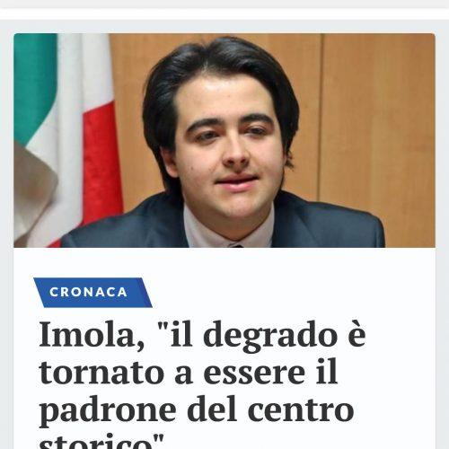 NICOLAS VACCHI (FORZA ITALIA): SPORCIZIA E DEGRADO IN CENTRO STORICO A IMOLA, IL SINDACO PROVVEDA.