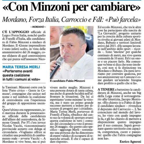 """""""Con Minzoni per cambiare"""""""
