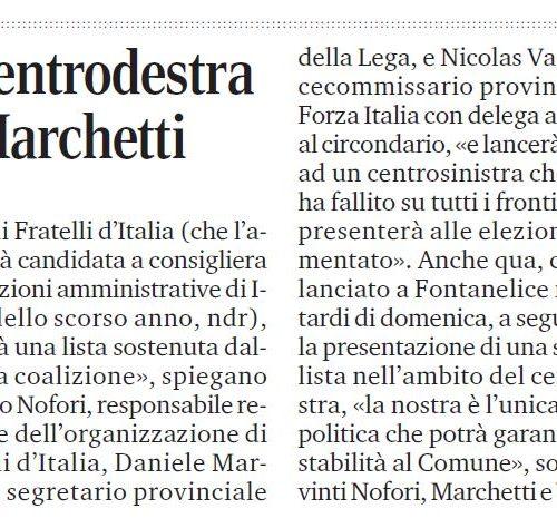 Casalfiumanese, il centrodestra candida Donatella Marchetti