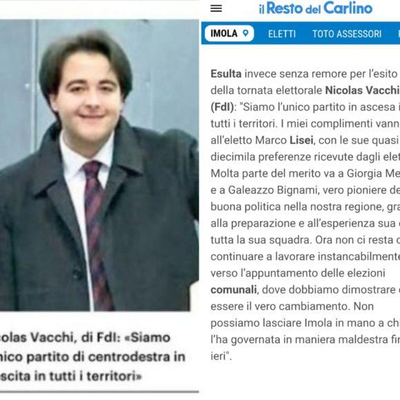 """Nicolas Vacchi, di FdI: """"siamo l'unico partito di centrodestra in crescita in tutti i territori"""""""