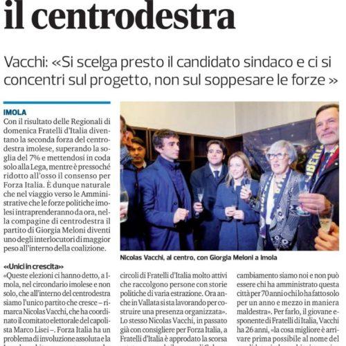 Fratelli d'Italia cresce e stimola il centrodestra
