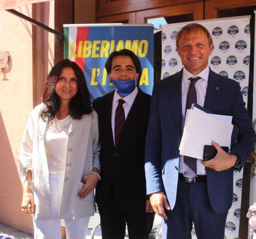 FRATELLI D'ITALIA IMOLA INCONTRA IL CAPOGRUPPO ALLA CAMERA ON. LOLLOBRIGIDA IN PIAZZA MATTEOTTI