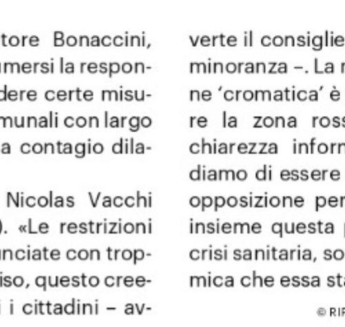 Nicolas Vacchi (Fratelli d'Italia): zona arancione scuro, pretendiamo chiarezza.